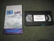 VHS PAL VIDEO FAMOUS WARPLANES-REPUBLIC -47 THUNDERBOLT GRUMMAN F63 HELLCAT