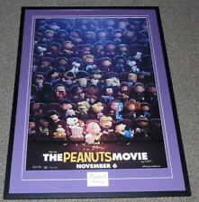 Charles Schulz Signed Framed 30x41 The Peanuts Movie Poster Display JSA Snoopy