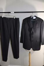 TED BAKER Men's black pinstripped pants suit size 42R