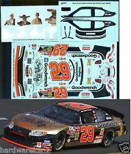 NASCAR DECAL #29 SUGAR RAY- GOODWRENCH 2003 MONTE CARLO KEVIN HARVICK JWTBM