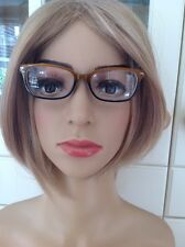 GREAT RAINBOW BROWN/MUSTARD PRESCRIPTION GLASSES FRAMES USED GOOD CONDITION
