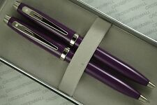 Sheaffer 100 purple with Nickel appointments Pen and 0.7mm Pencil set