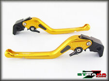 Kawasaki ZRX1100 1200 1999 - 2007 Strada 7 Long Carbon Fiber Inlay Levers Gold