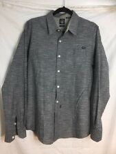 Men's Volcom long sleve button up shirt DARK GRAY L/G100% Cotton