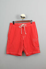 "J Crew Mens 9"" Original Longboard Shorts 32W 9L Fire Red Item 34688 Retail  $60"