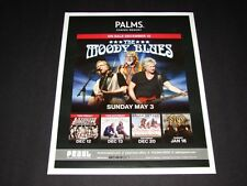 "The Moody Blues Live In Concert Las Vegas Matted Concert Ad/Art 15"" x 12"" NEW"