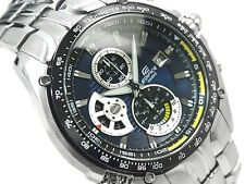 CASIO EDIFICE Chronograph 100M EF543D-2A EF-543D-2A Navy Sports Free Ship!