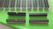 Caja de encabezado cinta de IDC de 50 vías bajo perfil PCB ángulo Recto X 10 piezas