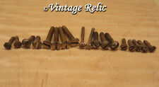 18 aged SLOTTED slot mounting SCREWS fit Fender 52 Tele Nocaster RELIC