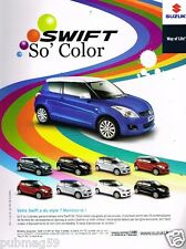 Publicité advertising 2012 Suzuki Swift