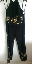 BNWT Joseph Ribkoff  Vintige 2 Pc top and  trousers Black&Gold  Sequins UK 14