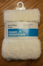 White Faux Fur - Body Pillow Case Cover - Super Soft - Room Essentials - RE