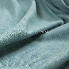 Soft Faux Wool Finish Light Blue Chenille Fabric Upholstery Furnishing Curtains