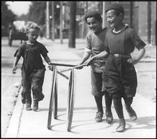 Photo. ca 1921. Canadian Kids Playing Hoops