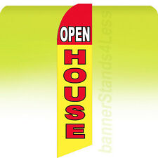 Feather Swooper Flutter Banner Sign 11.5' Tall Flag - OPEN HOUSE yb