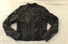 Xhilaration Black Faux Leather Short Jacket Women's Size Medium