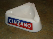 Vtg. S.E.V.N. Guerville France CINZANO Vermouth Liquor White Milk Glass Ashtray