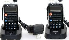 2X Dual Band Radio Motorola GP328L UV VHF136-174/UHF400-470 2-way Walkie Talkie