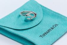 Tiffany & Co. Sterling Silver Elsa Peretti Infinity Wave Band Ring Size 3