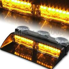 16LED 12V Police Car Strobe Flash Light Dash Emergency Flashing Light Bar Amber