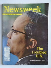 NEWSWEEK magazine 1966 U THANT United Nations-WHITNEY MUSEUM AMERICAN ART-Car AD