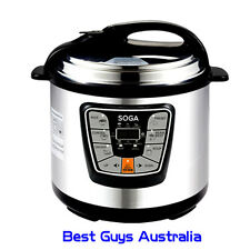 NEW COMMERICAL 6L ELECTRIC DIGITAL PRESSURE COOKER FAST & SLOW COOK  NON STICK