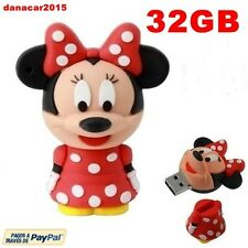 PEN DRIVE PENDRIVE DE MINNIE MOUSE ROJA 32GB 32 GB MEMORIA USB(4 8 16 64 MICKEY)