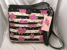 NEW! Betsey Johnson Rose Floral Handbag Satchel Crossbody Bag - NWT