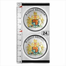 GREAT BRITAIN​​ set of 2 German Number Plate Seal Stadt 3D Domed Sticker badge