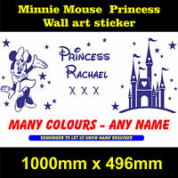 princess minnie mouse sweet dreams wall art  girls bedroom sticker  personalised