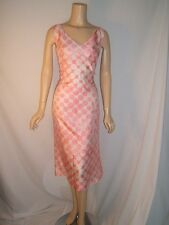 NWT NEW ESCADA Womens 10 PRETTY PINK CREAM POLKA DOTS Designer SILK Dress