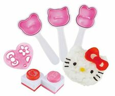 Hello Kitty Onigiri Mold Rice Ball Kit Face Shapes Nori Seaweed Punch Cutter JP