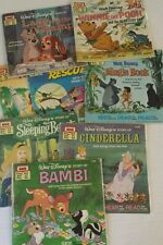 Lot of 8 Walt Disney's read along books previously read soft cover Bambi Pooh