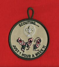 1 HOUR a WEEK Boy Cub Scout Scouts Patch Uniform World Scouting