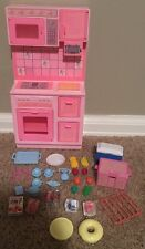 BARBIE DOLL 1987 SWEET ROSES KITCHEN COOKING Food Stove Oven VINTAGE Lot