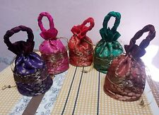 10pc Wholesale Lot Indian Handmade Wedding Favor Gift Jewelry Packing Tote bag