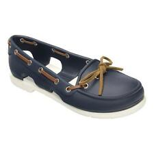 Womens Crocs Beach Boat Ladies Navy White Shoes UK 8