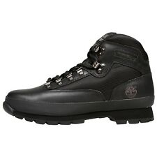 NEW - TIMBERLAND Men's 'EURO HIKER' 56038 Black ANKLE BOOTS - 9 / 43