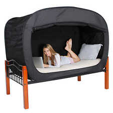 Privacy Pop TWIN Bed Tent Anti Mosquito Portable Canopy Bedroom in Black NEW