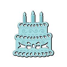 SWEET DIXIE Dies BIRTHDAY CAKE MINI DIE Cut Emboss Stencil SDD122 Sue Dix 66mm