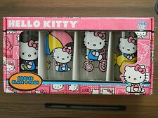 Sanrio Hello Kitty Drinking Glasses Set of 4 - 15oz Beverage New In Box (NIB)