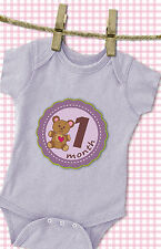 'MuchMore' Baby Monthly Stickers for Girl Photo prop,Onesie Stickers Shower Gift