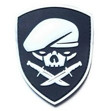 GLOWING SPECIAL FORCES SKULL MEDAL OF HONOR MOH RANGER 75th REGIMENT PVC PATCH