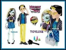 Monster High PICNIC CASKET 2 Doll JACKSON JEKYLL & Frankie Stein Exclusive Set !