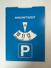 Parking disk Parking meter without advertising Rear side Fuel calculator