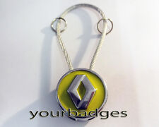 New Chrome Metal Renault key chain keyring Clio Megan