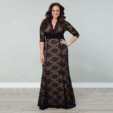 Grande Taille Pour Femmes Habillé Long À Lacets Robe De Bal Mariage Soirée