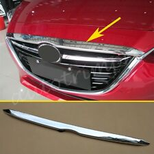 Chrome Accessories Front Head Engine Grille Cover Lid Trim For 2014-2016 Mazda3