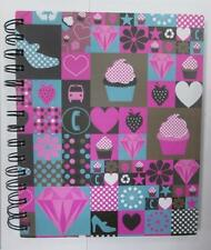Progetto a5 RIGATA notebook con divisori Colorati Funky Cover Design wirebound