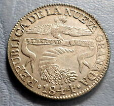 COLOMBIA COIN 2 REALES 1844 R.S XF+